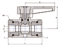 SMN Ball Valve drawing
